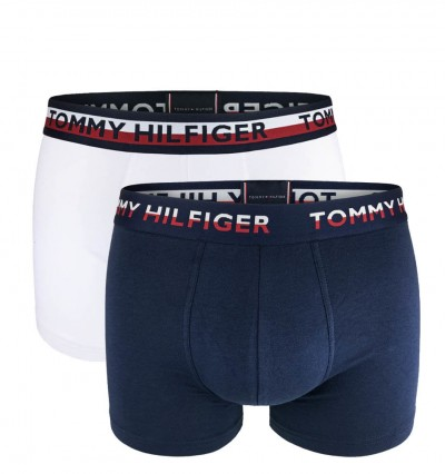TOMMY HILFIGER - 2PACK Tommy original navy & white boxerky