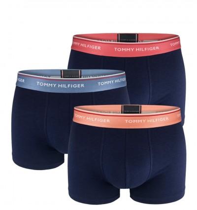 d853a24a42 NOVINKALIMITED TOMMY HILFIGER - 3PACK Premium essentials modré fashion  boxerky s farebným pásom 1 ...
