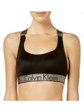 CALVIN KLEIN - Lightly lined čierna braletka