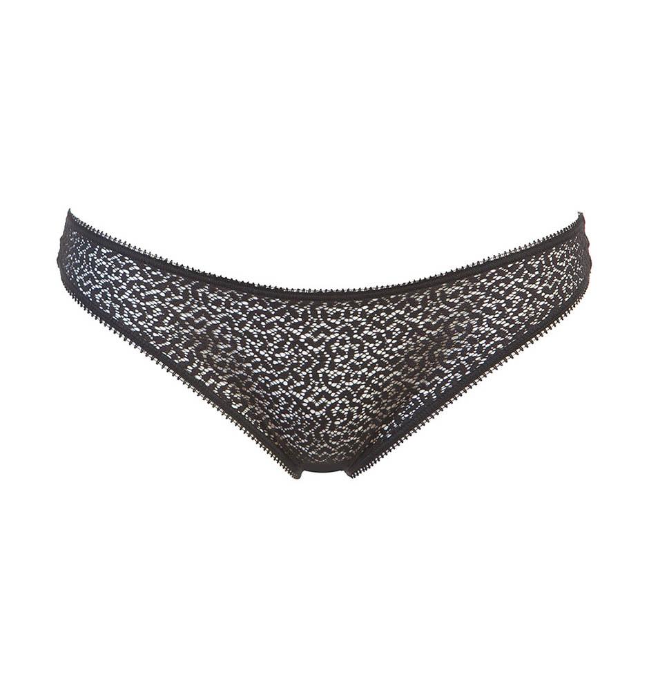 DKNY - Modern lace čierne čipkované tangá-M