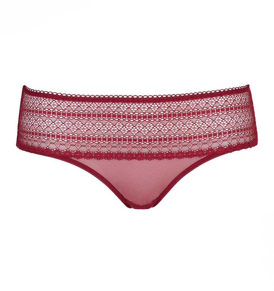 DKNY - Lace bordové čipkované nohavičky-S