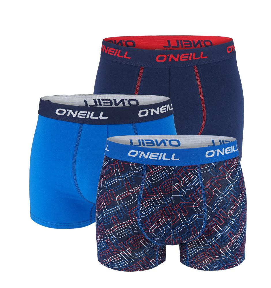O'NEILL - 3PACK navy cobalt logo boxerky z organickej bavlny-XXL (103-108 cm)