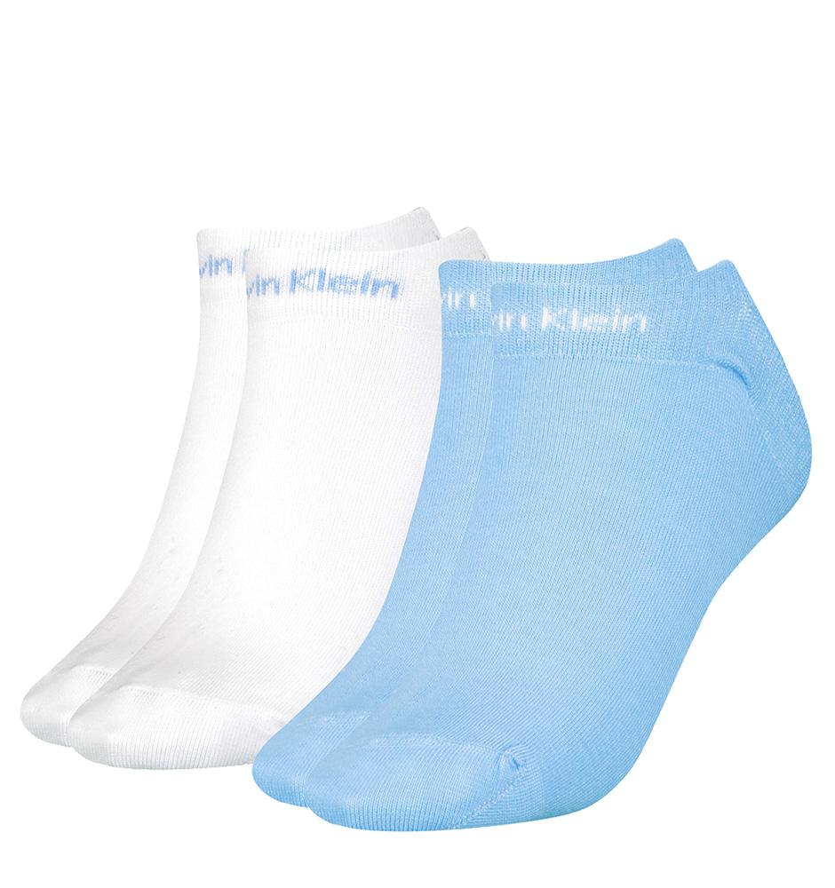 CALVIN KLEIN - 2PACK gripper leanne light blue členkové ponožky-UNI