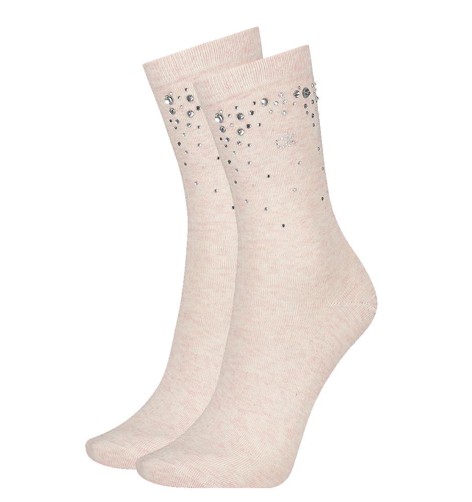 CALVIN KLEIN - rose melange logo crystal ponožky -UNI