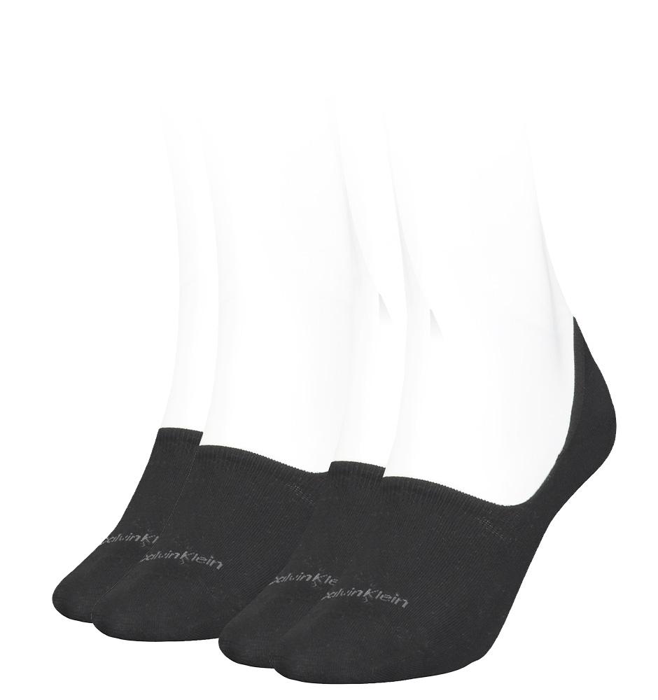 CALVIN KLEIN - 2PACK čierne neviditeľné ponožky -35-38
